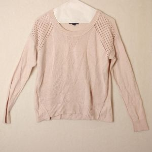 American eagle Light pink knit sweater small.